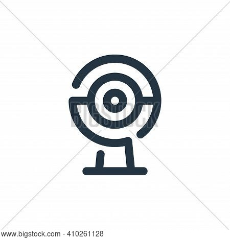 webcam icon isolated on white background from video collection. webcam icon thin line outline linear