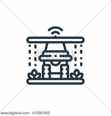watering icon isolated on white background from smart farm collection. watering icon thin line outli