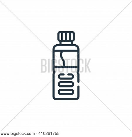 water bottle icon isolated on white background from baseball collection. water bottle icon thin line