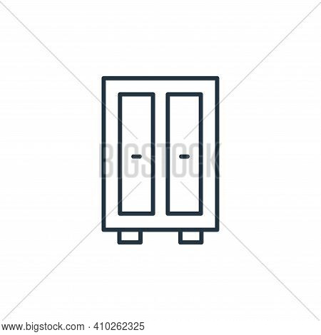 wardrobe icon isolated on white background from interiors collection. wardrobe icon thin line outlin
