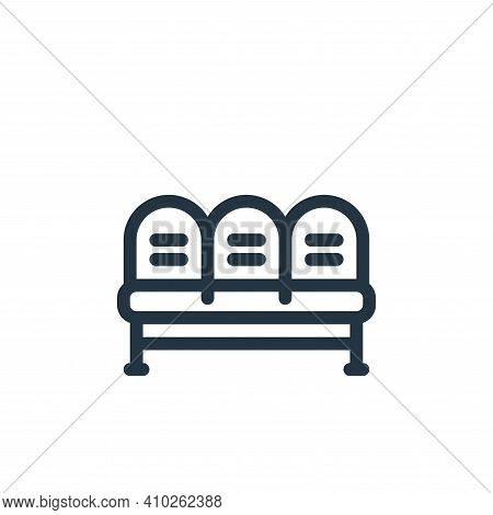 waiting room icon isolated on white background from medical tools collection. waiting room icon thin