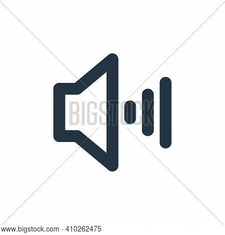 volume icon isolated on white background from user interface collection. volume icon thin line outli