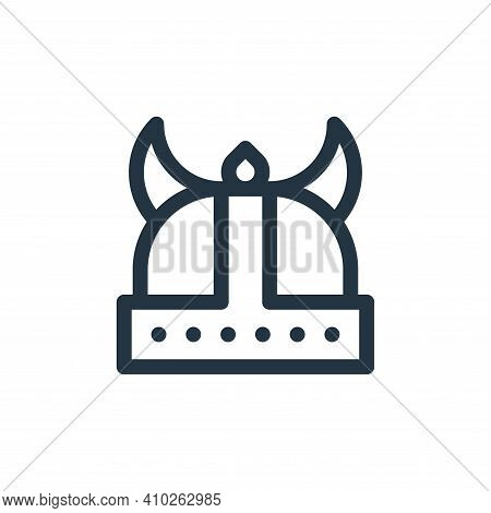 viking helmet icon isolated on white background from europe collection. viking helmet icon thin line