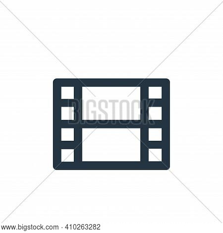 video icon isolated on white background from user interface collection. video icon thin line outline