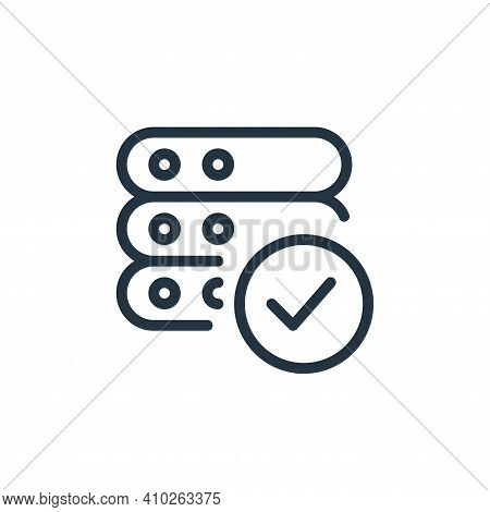 Verified Vector Icon From Work Office Server Collection Isolated On White Background