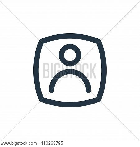 user icon isolated on white background from basic ui collection. user icon thin line outline linear