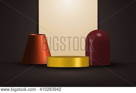Abstract 3d Rendering Design Artwork Of Geometric Style Decorative Template. Overlapping With Color