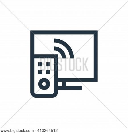 tv icon isolated on white background from news collection. tv icon thin line outline linear tv symbo