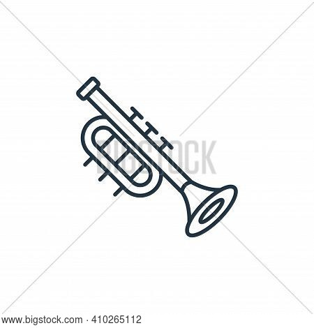 trumpet icon isolated on white background from music instruments collection. trumpet icon thin line