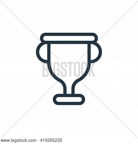 trophy icon isolated on white background from online learning collection. trophy icon thin line outl