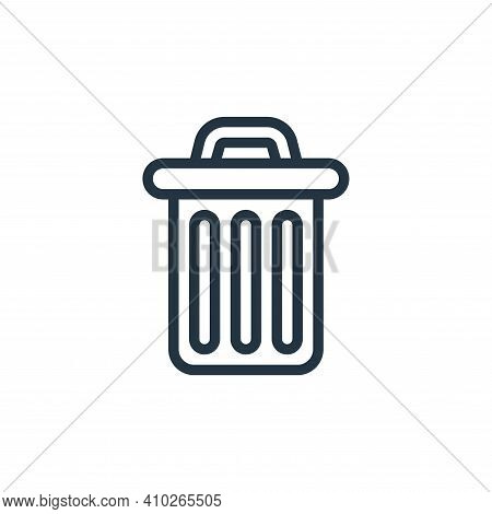 trash bin icon isolated on white background from miscellaneous collection. trash bin icon thin line