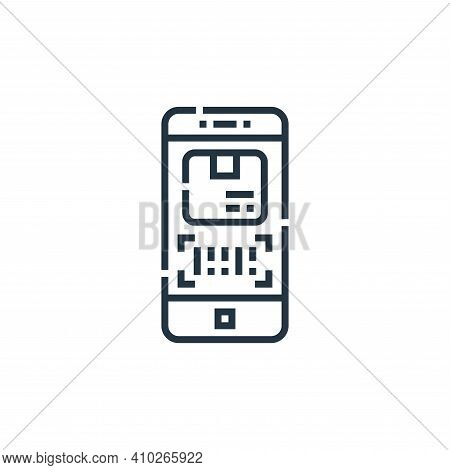 tracking app icon isolated on white background from delivery collection. tracking app icon thin line