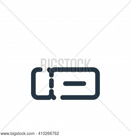 ticket icon isolated on white background from travel collection. ticket icon thin line outline linea
