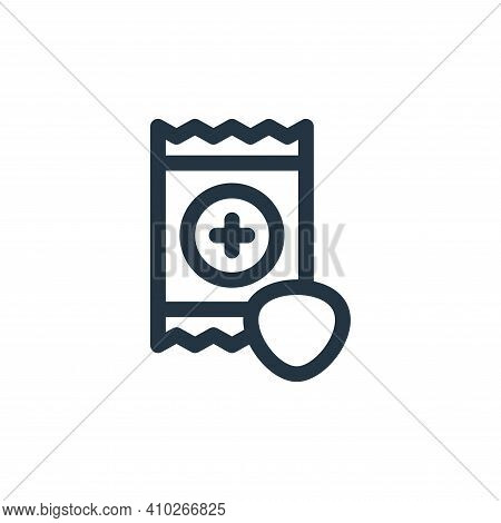 throat icon isolated on white background from medicine collection. throat icon thin line outline lin