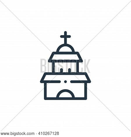 temple icon isolated on white background from mexico collection. temple icon thin line outline linea