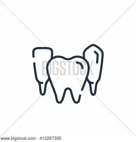 teeth icon isolated on white background from dental care collection. teeth icon thin line outline li