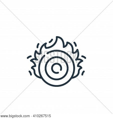 target icon isolated on white background from circus collection. target icon thin line outline linea
