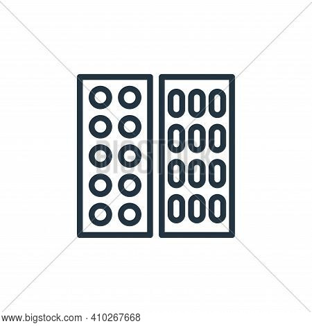 tablets icon isolated on white background from hospital collection. tablets icon thin line outline l