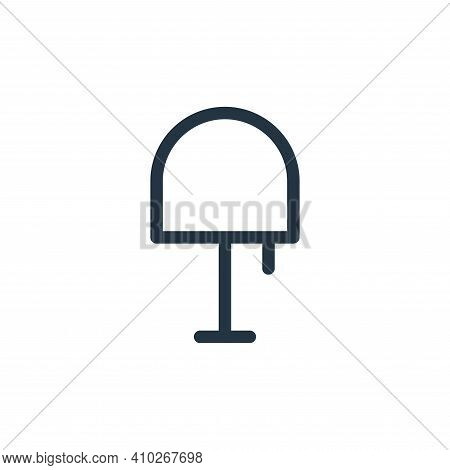 table lamp icon isolated on white background from electronics collection. table lamp icon thin line