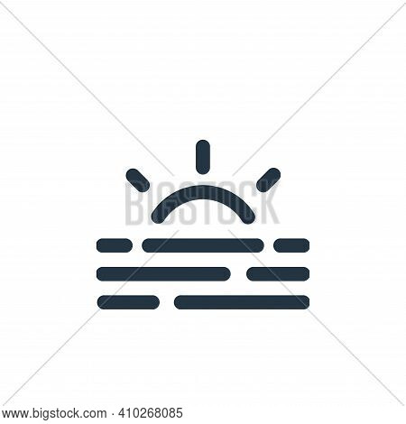 sunrise icon isolated on white background from weather collection. sunrise icon thin line outline li