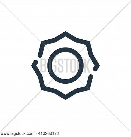 sun icon isolated on white background from weather collection. sun icon thin line outline linear sun
