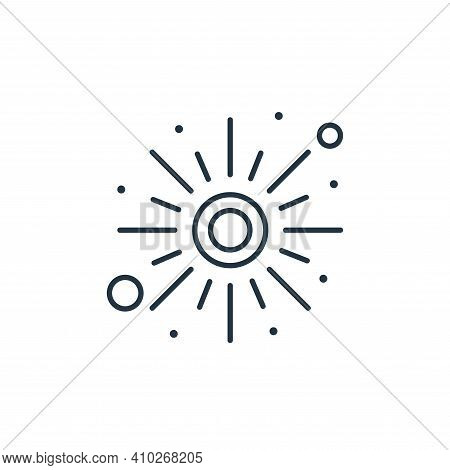 sun icon isolated on white background from islam and ramadan collection. sun icon thin line outline