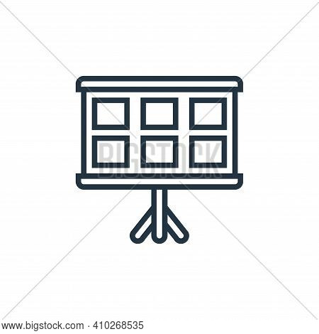 story board icon isolated on white background from cinema collection. story board icon thin line out