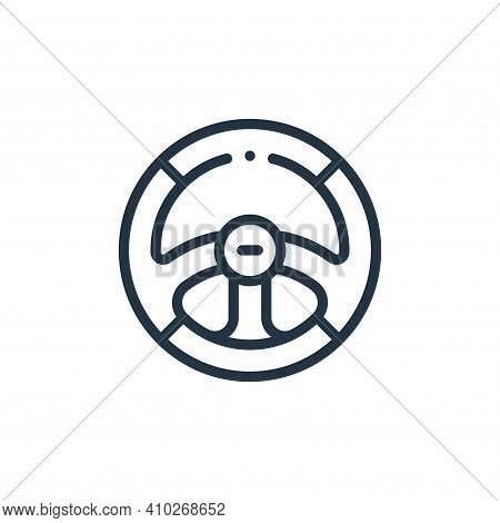 steering wheel icon isolated on white background from autoracing collection. steering wheel icon thi