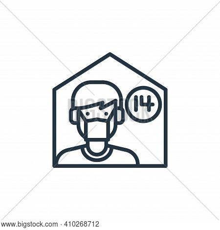 stay at home icon isolated on white background from virus collection. stay at home icon thin line ou