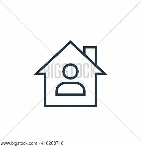 stay at home icon isolated on white background from pandemic novel virus collection. stay at home ic