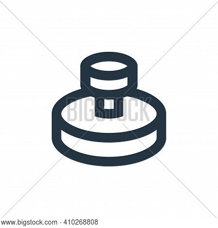 stamp icon isolated on white background from office stationery collection. stamp icon thin line outl