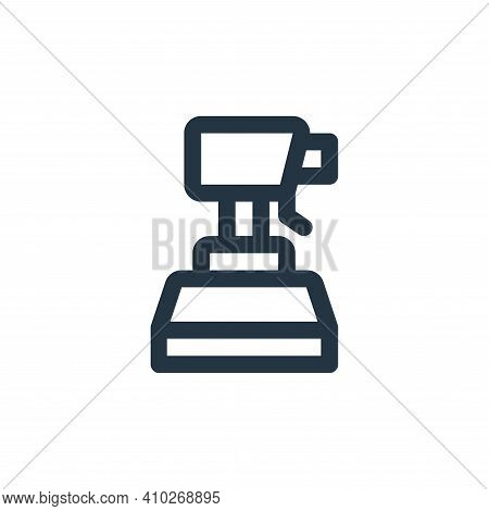 spray icon isolated on white background from virus transmission collection. spray icon thin line out