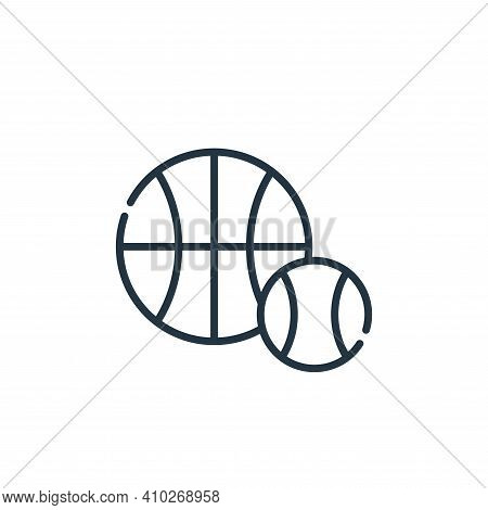 sports icon isolated on white background from academy collection. sports icon thin line outline line