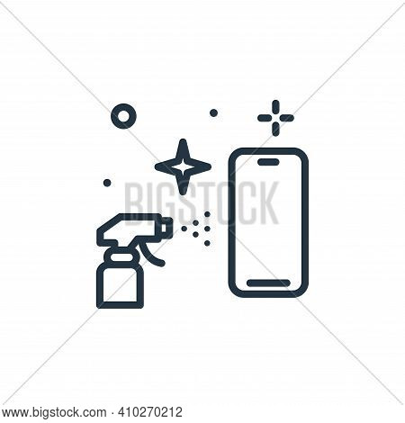 smartphone icon isolated on white background from hygiene collection. smartphone icon thin line outl