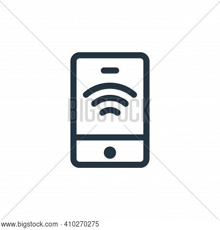 smartphone icon isolated on white background from electronics collection. smartphone icon thin line