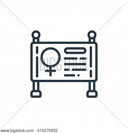 sign icon isolated on white background from womens day collection. sign icon thin line outline linea