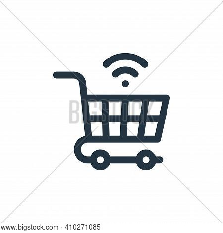 shopping cart icon isolated on white background from internet of things collection. shopping cart ic