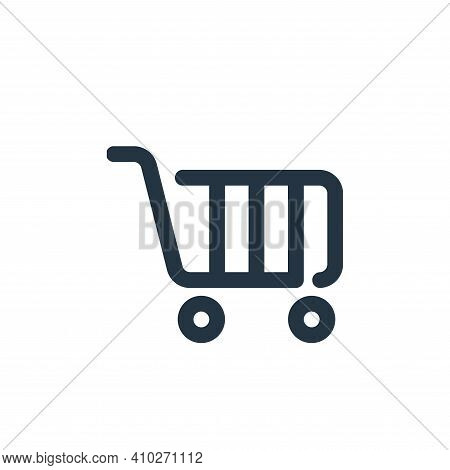 shopping cart icon isolated on white background from shopping collection. shopping cart icon thin li