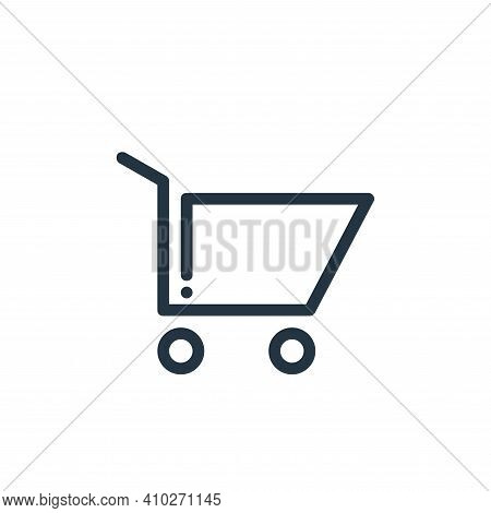 shopping cart icon isolated on white background from ricon collection. shopping cart icon thin line