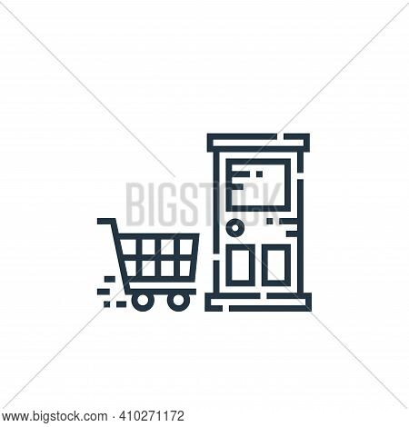 shopping cart icon isolated on white background from delivery collection. shopping cart icon thin li