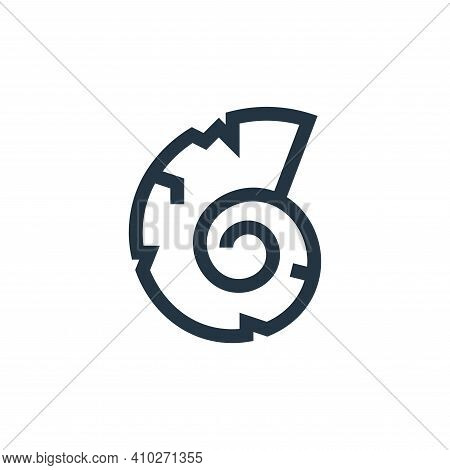 shell icon isolated on white background from history collection. shell icon thin line outline linear