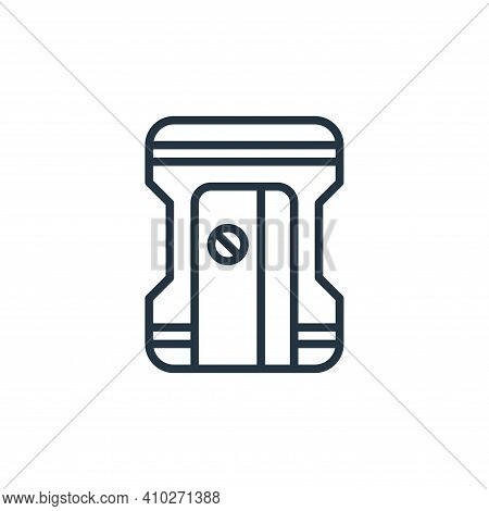 sharpener icon isolated on white background from stationery collection. sharpener icon thin line out