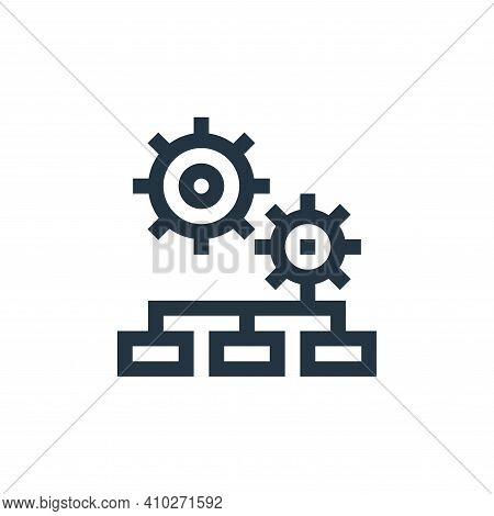 settings icon isolated on white background from management collection. settings icon thin line outli