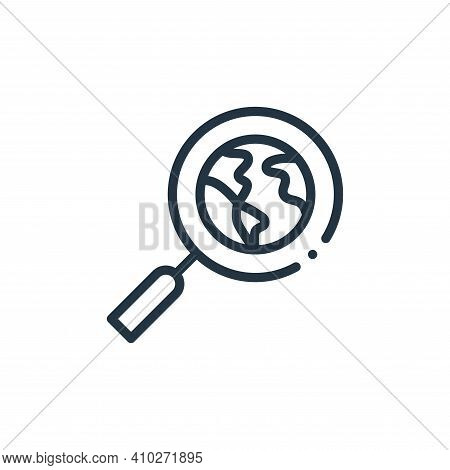 searching icon isolated on white background from world love collection. searching icon thin line out
