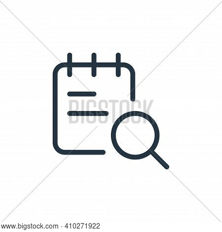 search icon isolated on white background from work office supply collection. search icon thin line o