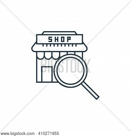 search icon isolated on white background from online shopping collection. search icon thin line outl