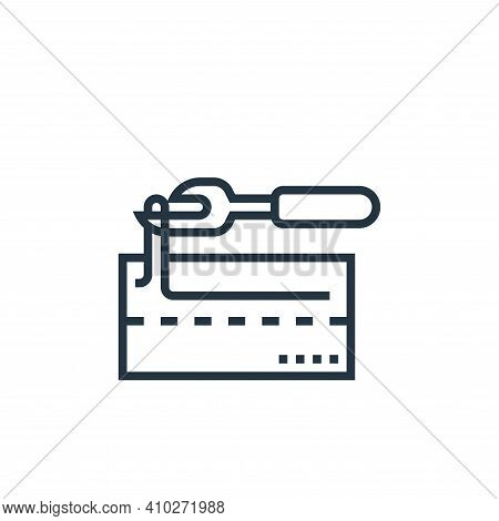 seam ripper icon isolated on white background from sewing equipment collection. seam ripper icon thi