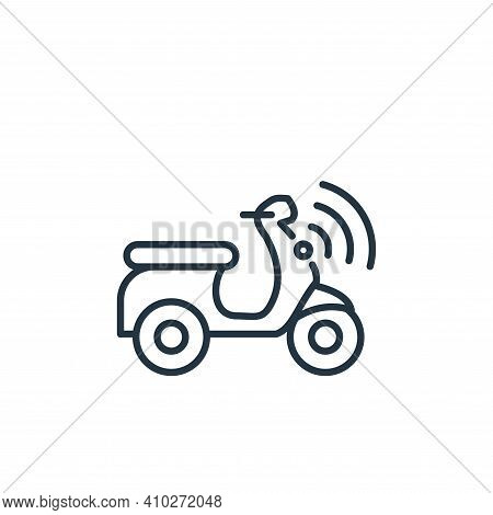 scooter icon isolated on white background from internet of things collection. scooter icon thin line