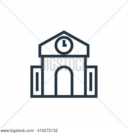 school icon isolated on white background from education collection. school icon thin line outline li