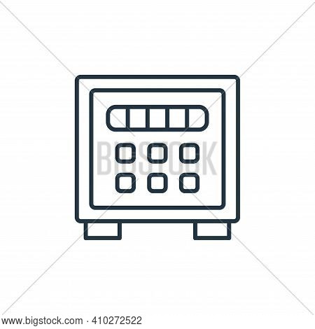 safe icon isolated on white background from retirement collection. safe icon thin line outline linea